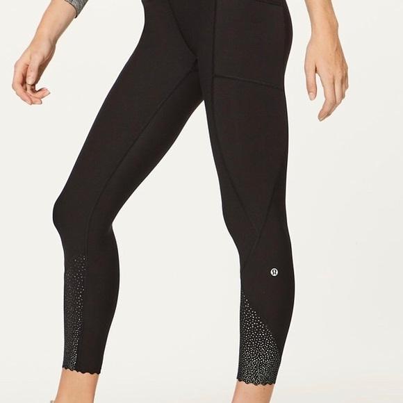 0696b37b5275b lululemon athletica Pants | Lulu Lemon Leggings Reflective Ankle ...